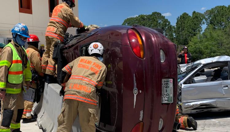 Miami Fire Technical Rescue On Scene